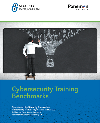 Ponemon Cybersecurity Training Benchmarks cover